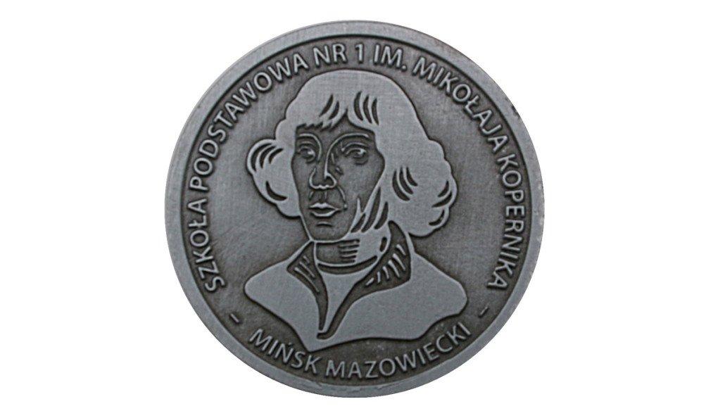 Medal okolicznościowy wyprodukowany dla Szkoły Podstawowej im. Mikołaja Kopernika - Mińsk Mazowiecki