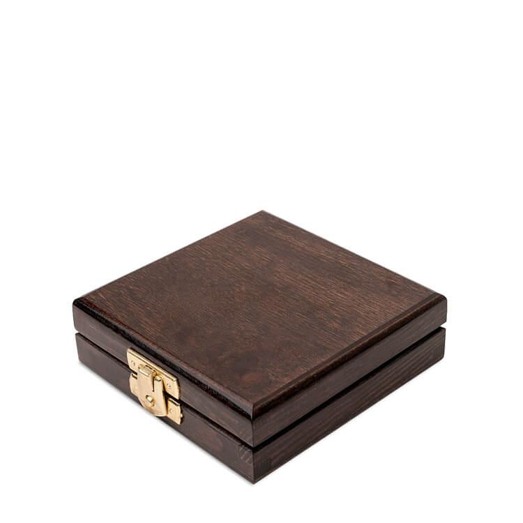 Etui drewniane na monetę