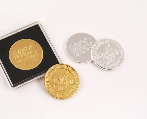 Pamiątkowe monety pozłacane i posrebrzane