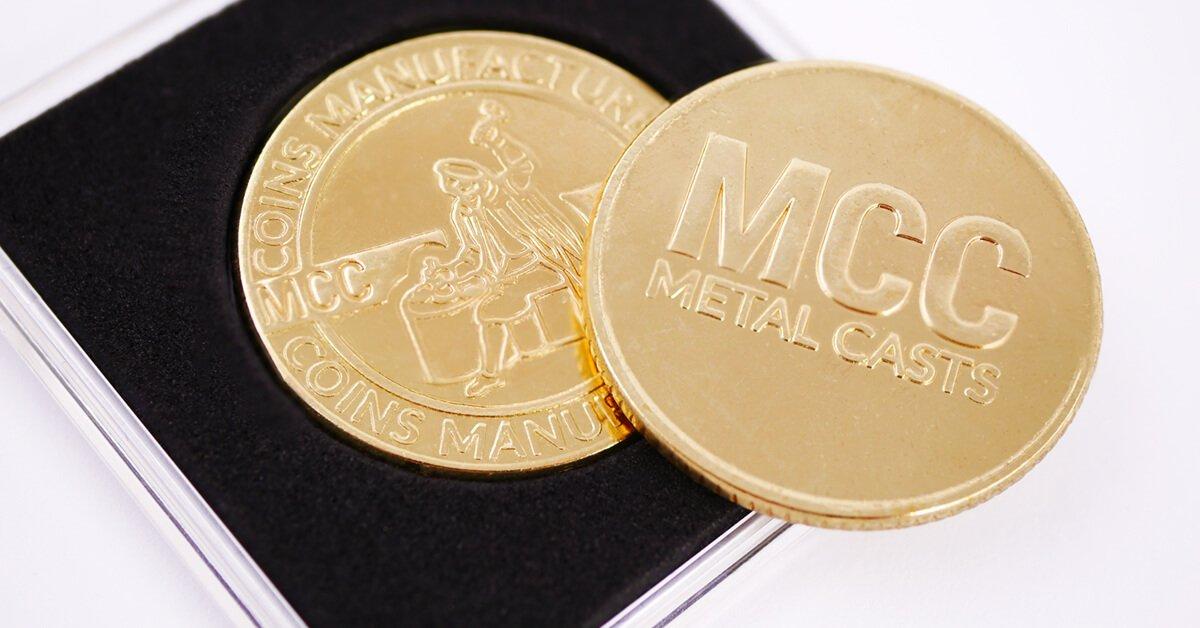 Pamiątkowa moneta pozłacana