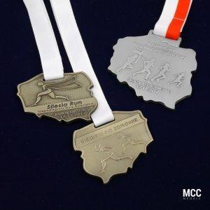 Medale w kształcie Polski