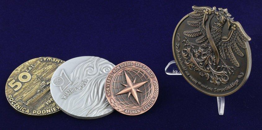 Pamiątkowe medale trójwymiarowe projektu MCC Medale
