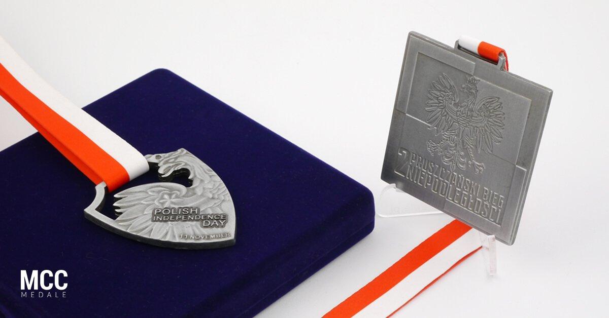 Medale sportowe na biegi niepodległości