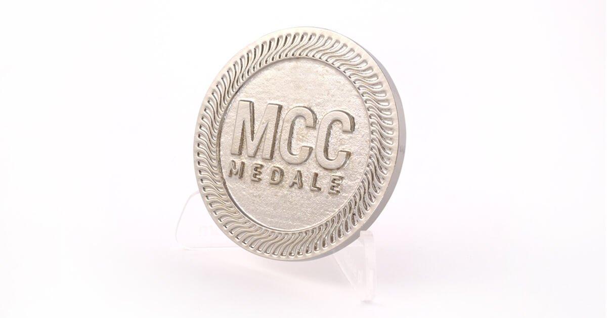 Srebro niklowe - kolor odlewów oferowanych przez MCC Medale