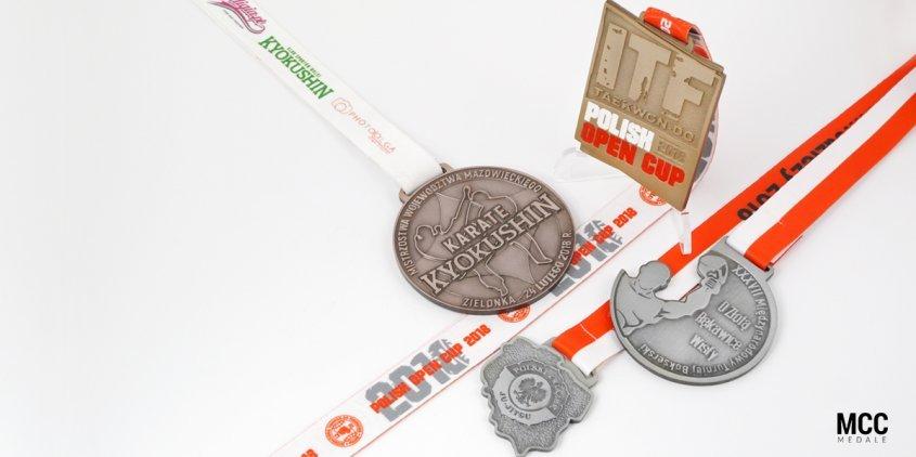 Sporty walki i przykłady medali na zawody wykonane przez MCC Medale