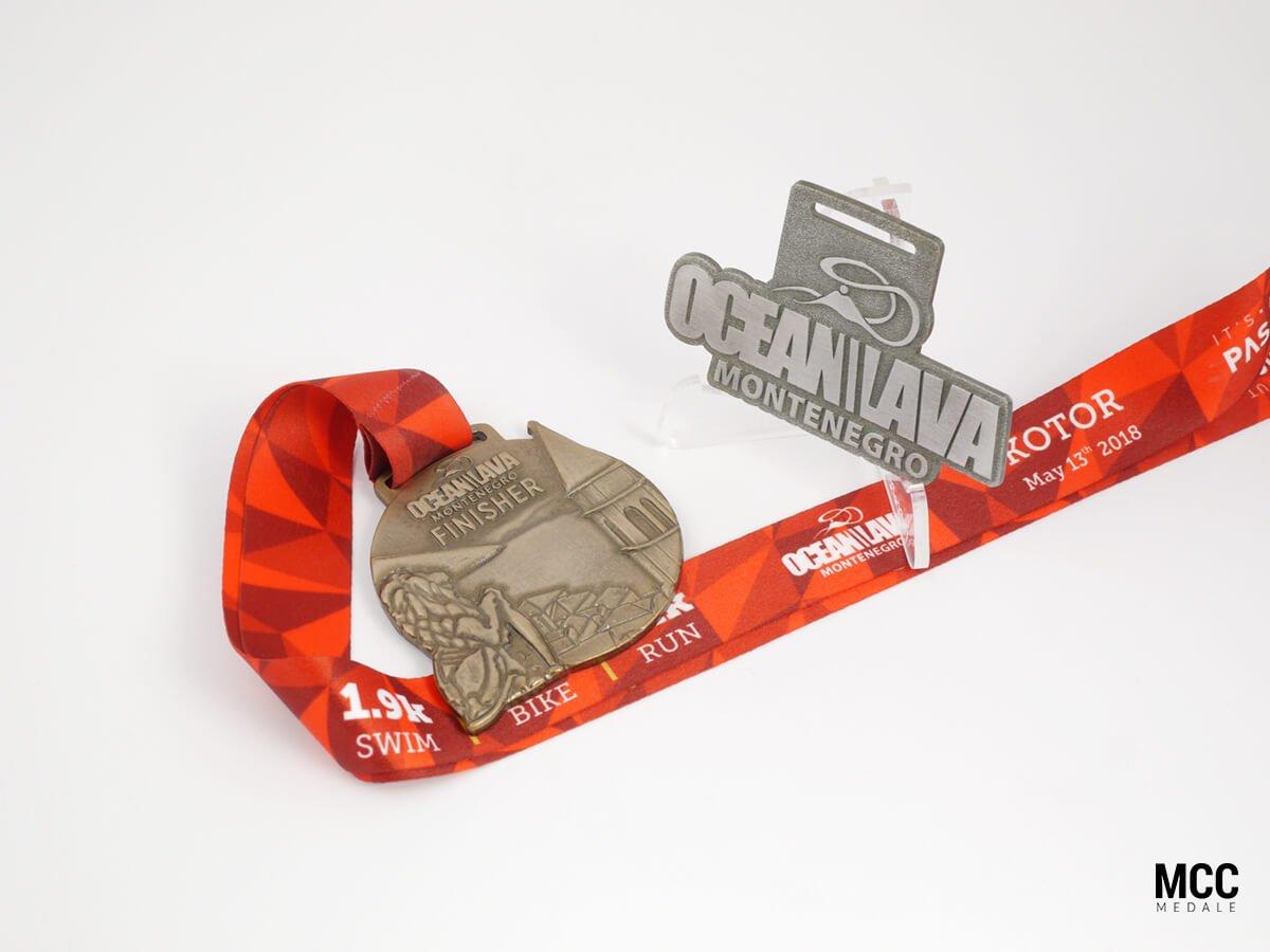 Medale sportowe na zawody triathlonowe Ocean Lava