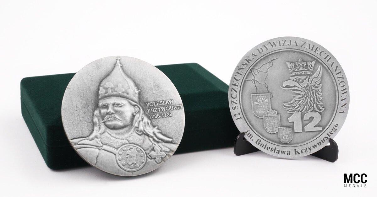 Medal 3D z wizerunkiem Bolesława Krzywoustego