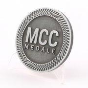 Srebro antyczne - patynowany metal. Przykład kolorów medali i innych odlewów wykonywanych przez MCC Medale