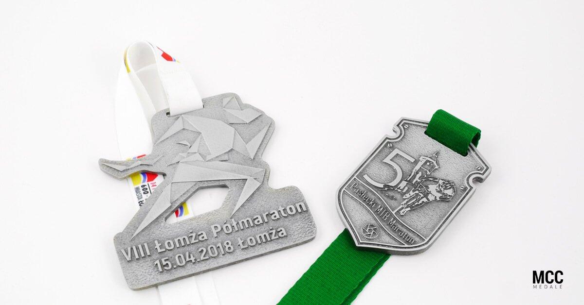 Odlewane medale na VIII Łomża Półmaraton i 5 Pasłęcki MTB Maraton