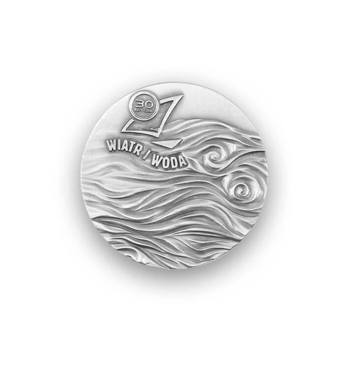 Wiatr i woda - medal 3D [awers]