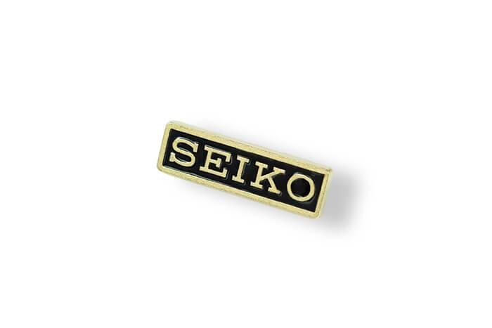Seiko - pins lakowany wykonany przez MCC Medale