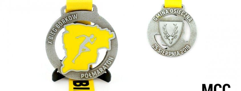 Medal na X Bieg Borków wykonany przez firmę produkującą medale - MCC Medale