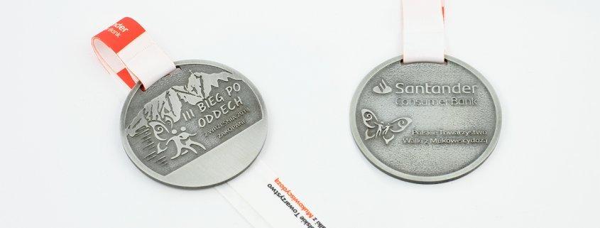 Medale na III Bieg po Oddech wykonane przez MCC Medale