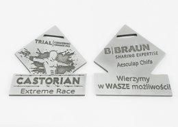 Medal na Castorian Extreme Race przygotowany przez firmę MCC Medale