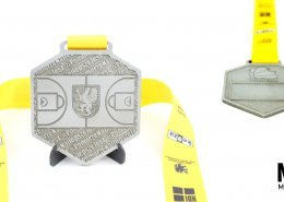 Medal na mecz gwiazd POZKOSZ przygotowany przez producenta medali sportowych - MCC Medale