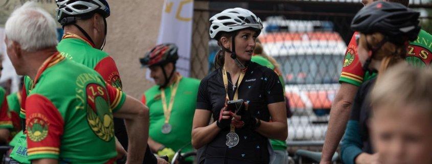 Zdjęcie z medalami Tour de Rybnik 2018 wyprodukowanymi przez MCC Medale