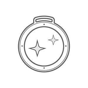 Świecące emalie na produktach MCC Medale - ikonka