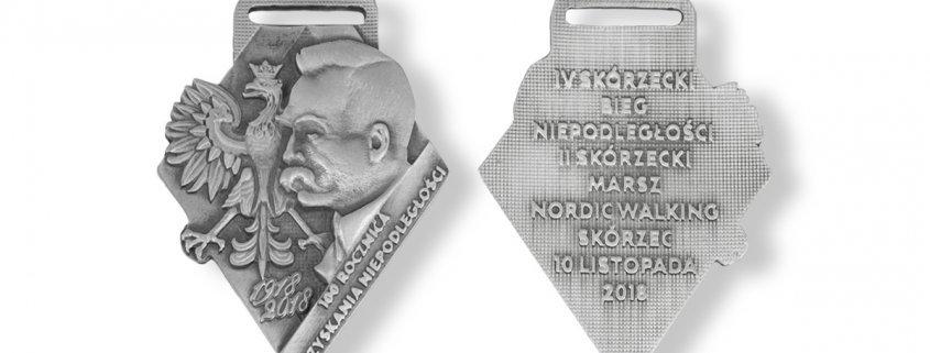 Medale biegowe na IV Skórzecki Bieg Niepodległości