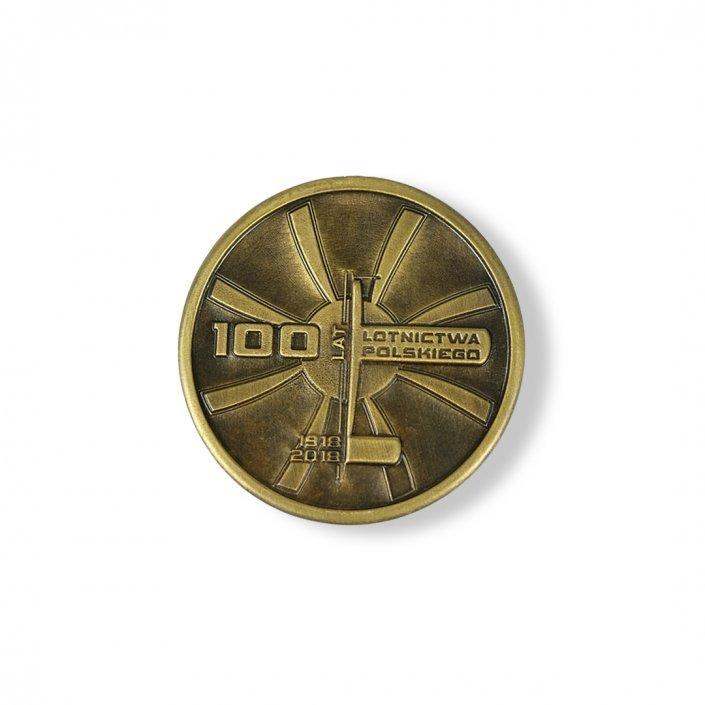 100 Lat Polskiego Lotnictwa - rewers medalu odlewanego