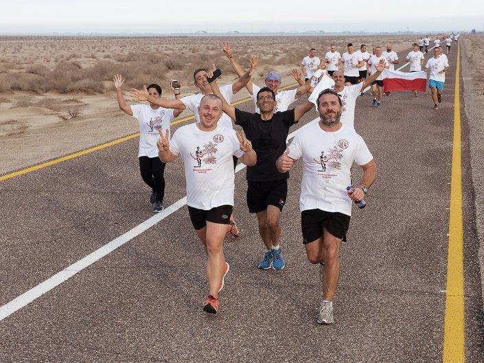 Bieg Żołnierski na 100 lecie Polski Niepodległej w Kuwejcie - uczestnicy