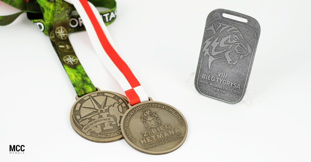 Medale biegowe wykonane na biegi na orientację