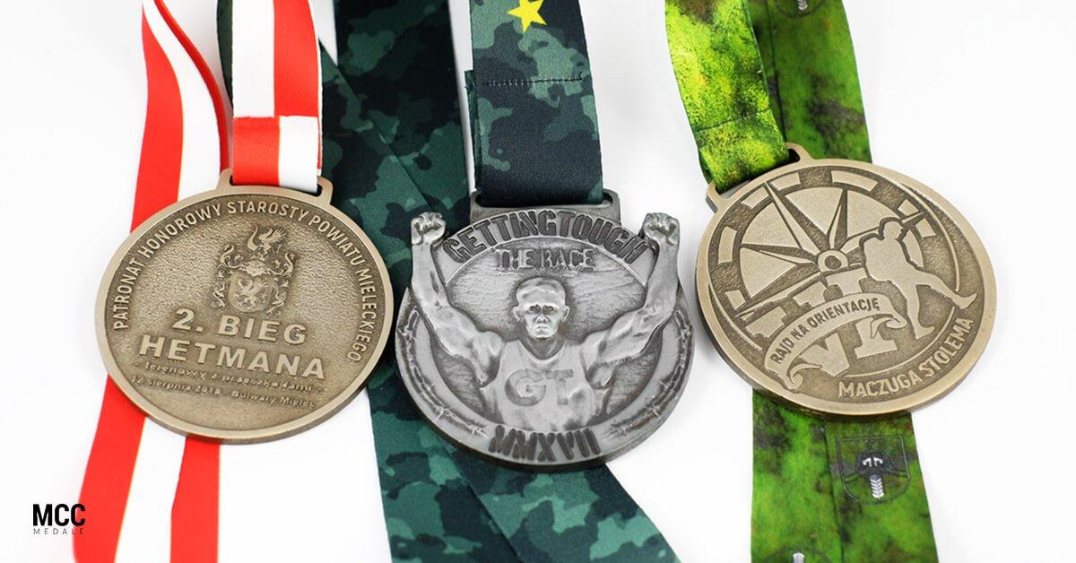 Bieg na orientacje - przykładowe medale wyprodukowane przez MCC Medale