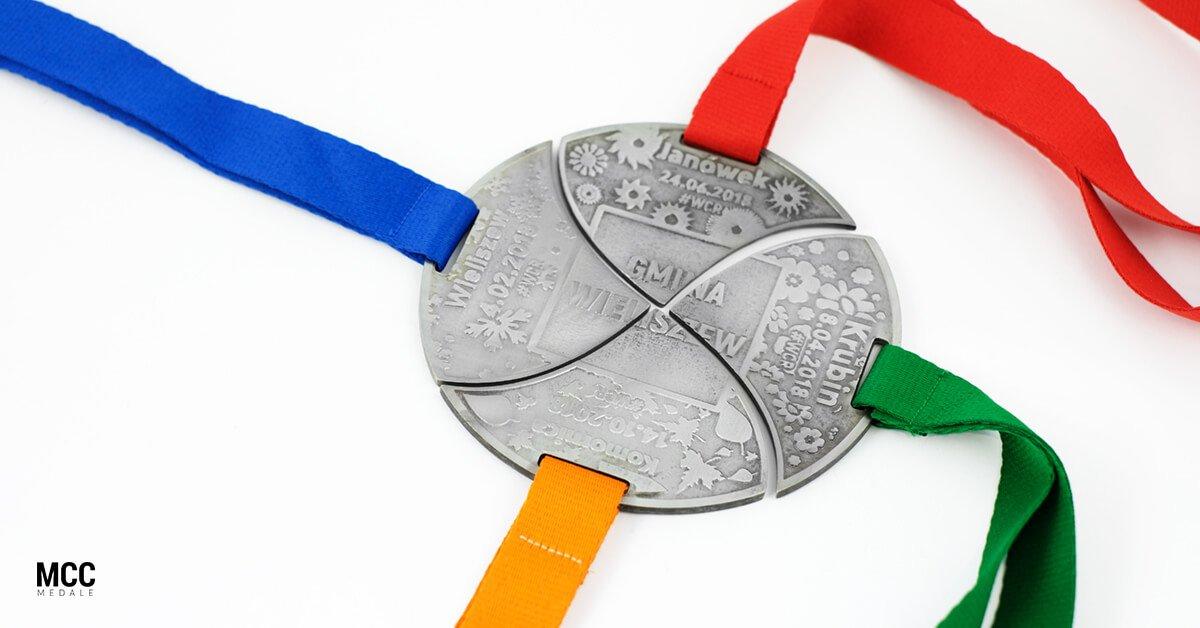 Zestaw medali dla gminy Wieliszew
