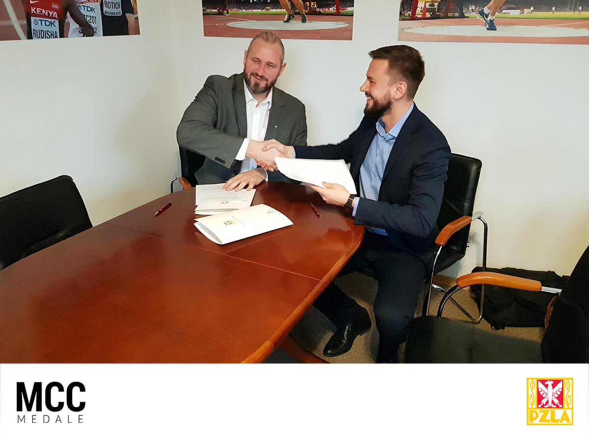 Podpisanie umowy pomiędzy PZLA i MCC Medale