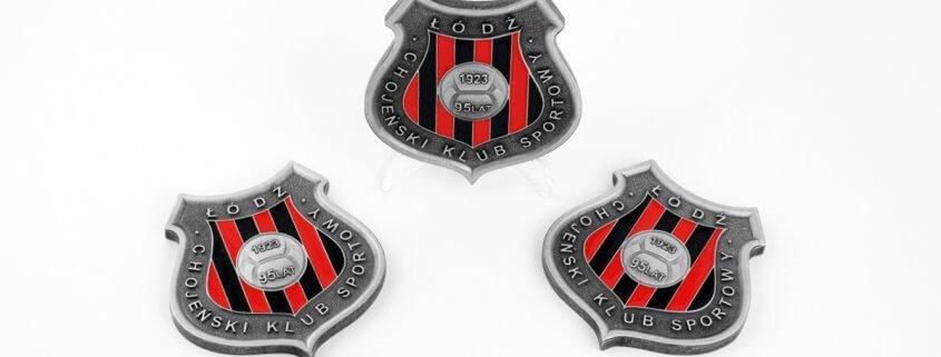 Chojeński Klub Sportowy w Łodzi - medale pamiątkowe na 95-lecie istnienia klubu