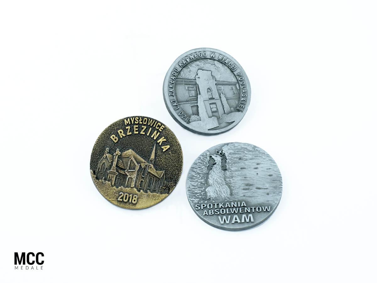 Przykładowe medale pamiątkowe