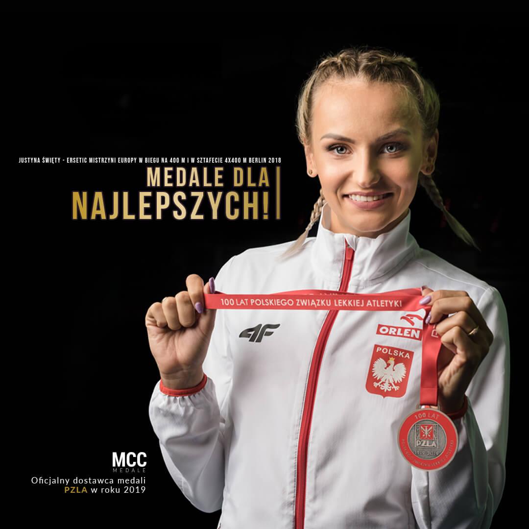 Justyna Święty-Ersetic z medalem