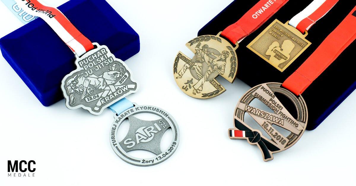 Medale na zawody sportów walki