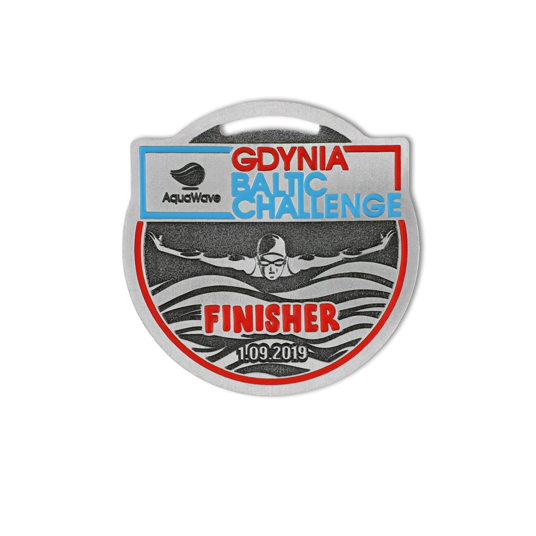 Medale sportowe na zamówienie, Gdynia Baltic Challenge, 2019, od producenta medali MCC Medale