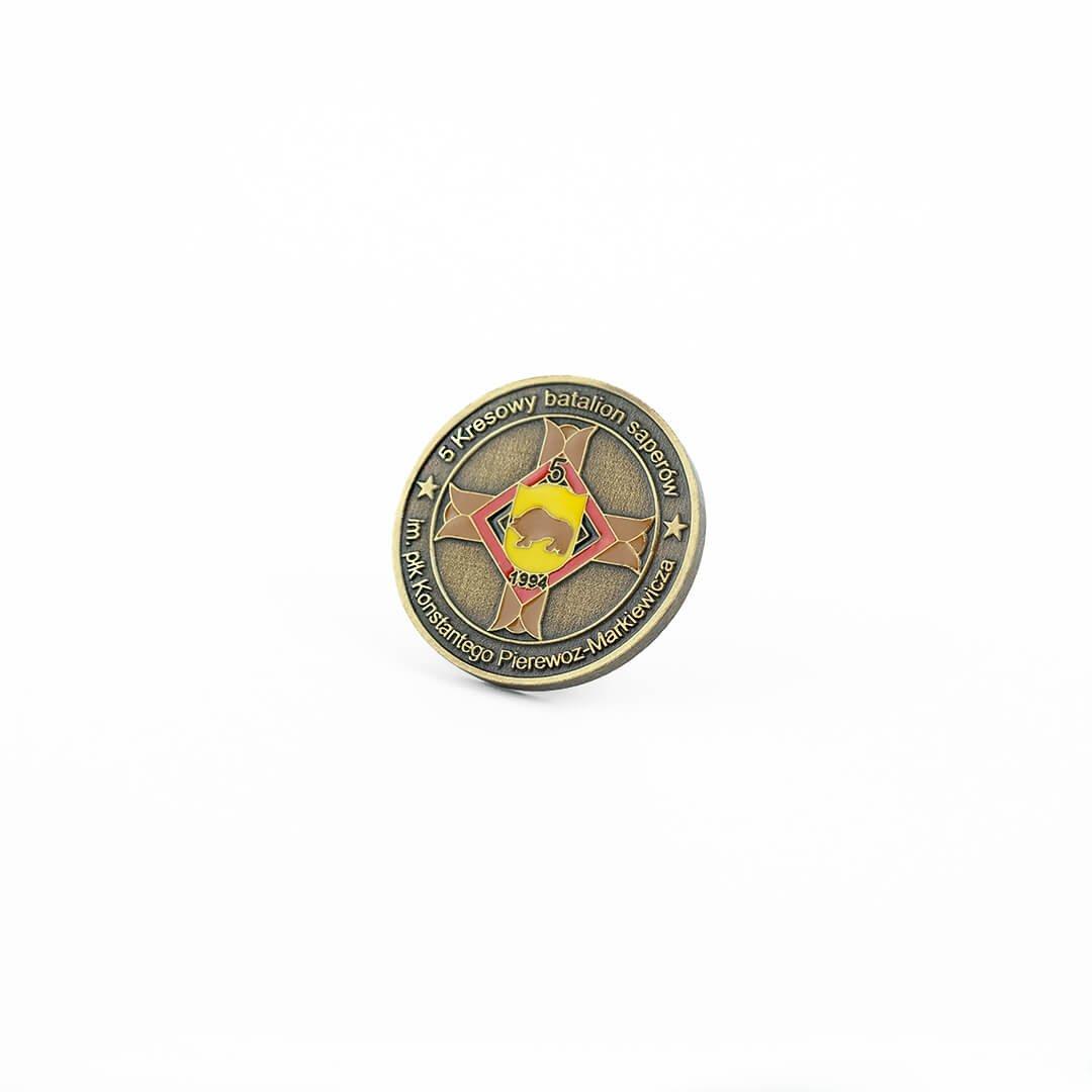 Wybijanie monet na zamówienie i odlewanie monet, dla Wojska i instytucji i samorządów. Własne monety w MCC Medale