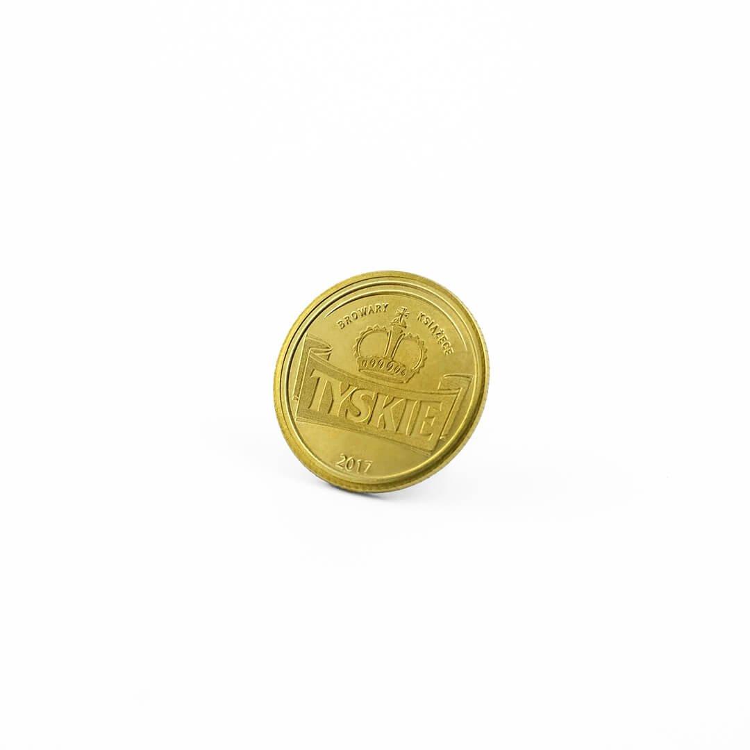Wybijanie monet na zamówienie od MCC Medale, moneta Tyskie piwo, moneta na zamówienie od MCC Medale