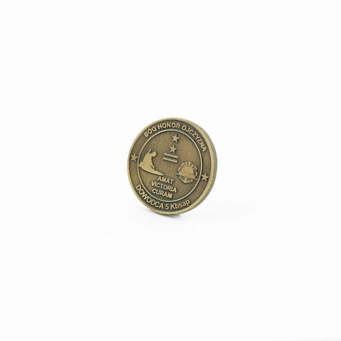 Monety okolicznościowe na zamówienie da wojska, od producenta metalowych monet MCC Medale