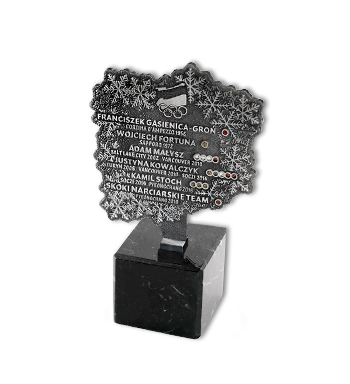 Statuetka na zamówienie dla Polskiego Związku Narciarskiego MCC Medale