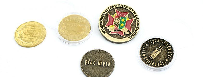 Przykładowe coiny na zamówienie zrealizowane przez MCC Medale
