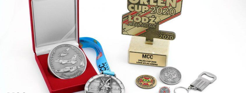 Gadżety firmowe MCC Medale wyprodukowane z metalu na zamówienie