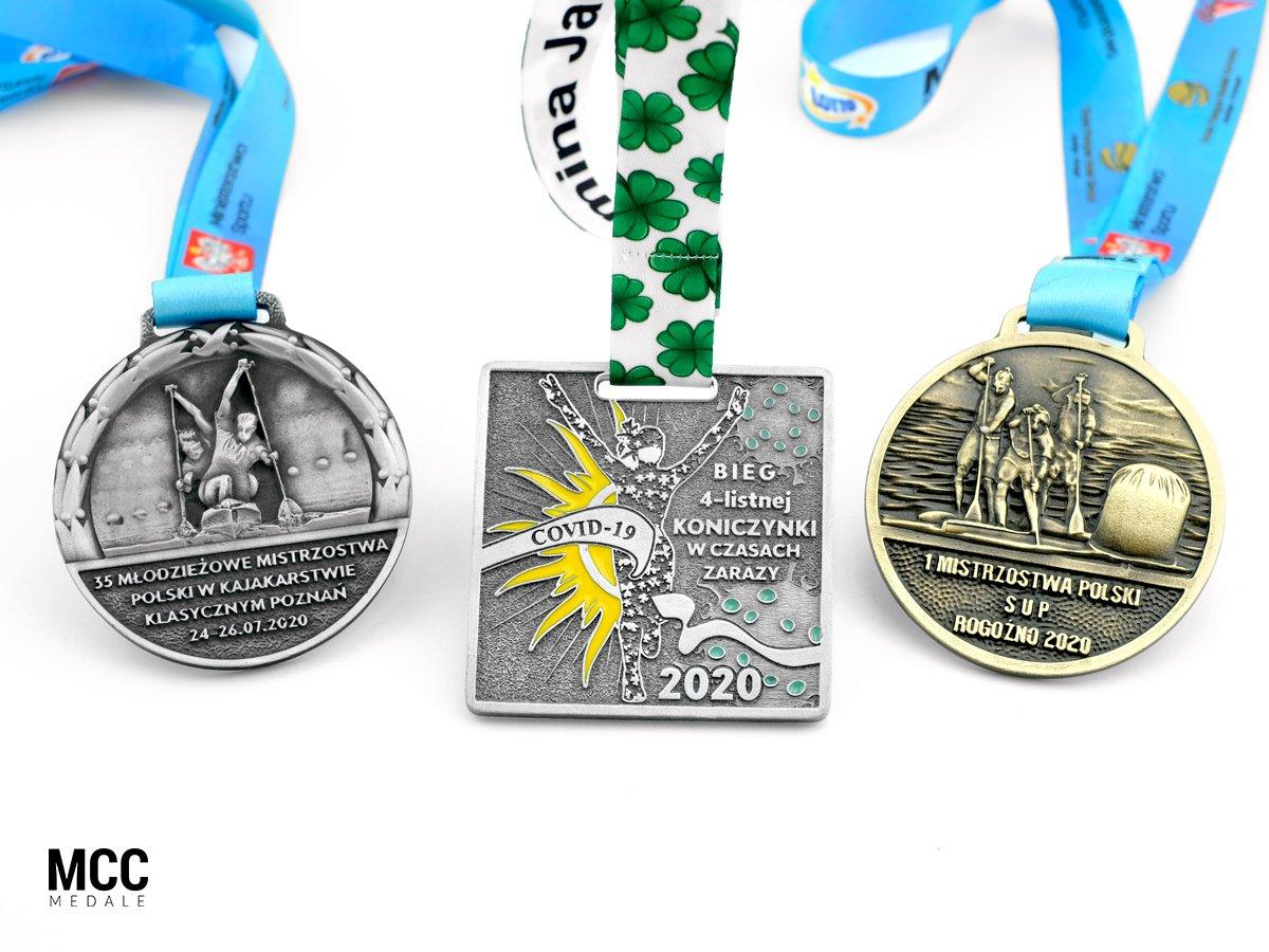 Firmowe medale sportowe wyprodukowane na zamówienie przez MCC Medale