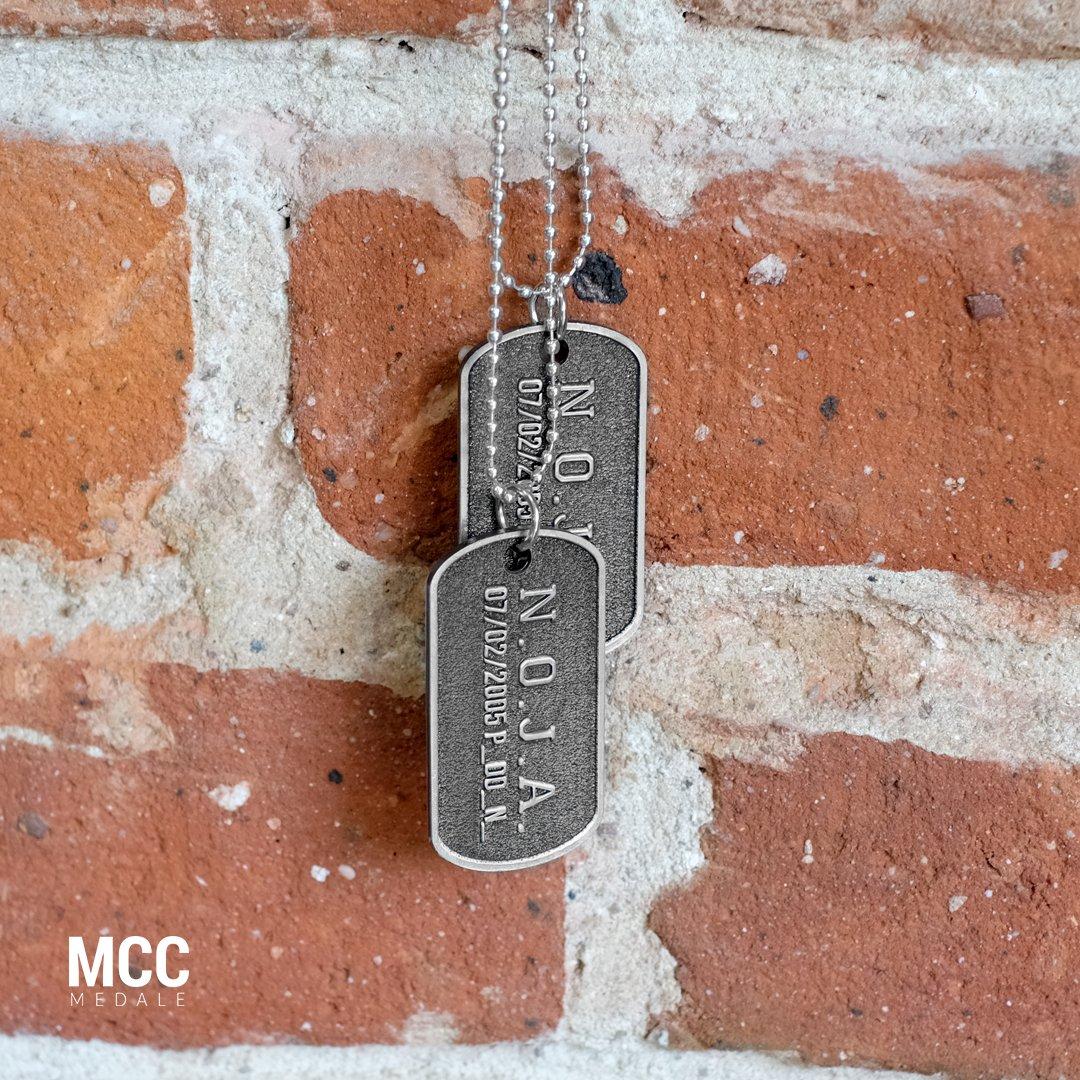 Nieśmiertelniki N.O.J.A wyprodukowane przez MCC Medale