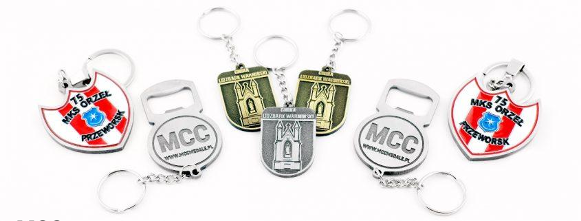 Breloczki do kluczy na zamówienie od MCC Medale