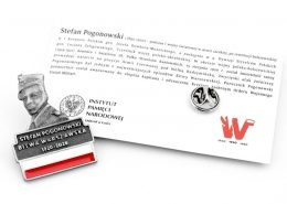 Pins z karteczką wykonany przez MCC Medale dla IPN