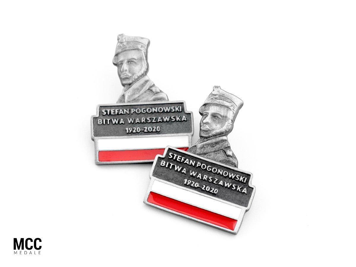 Stefan Pogonowski - przypinka upamiętniająca porucznika