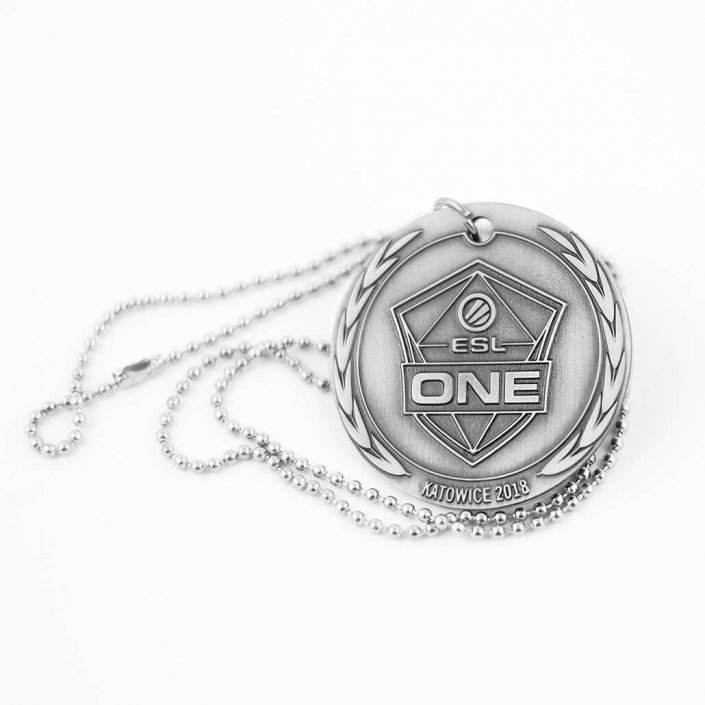 ESL ONE Katowice 2018 - Nieśmiertelnik wykonany przez MCC Medale