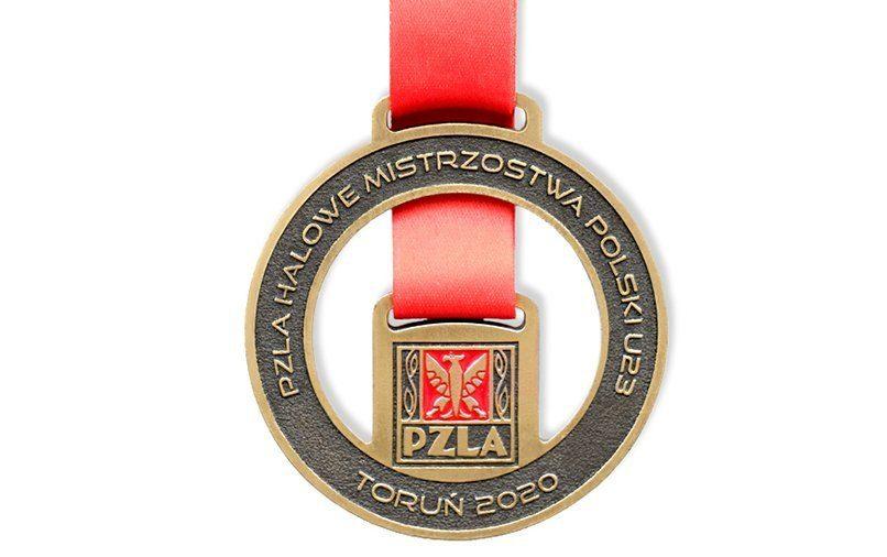 Medal sportowy z odlewni MCC Medale, wyprodukowany dla PZLA