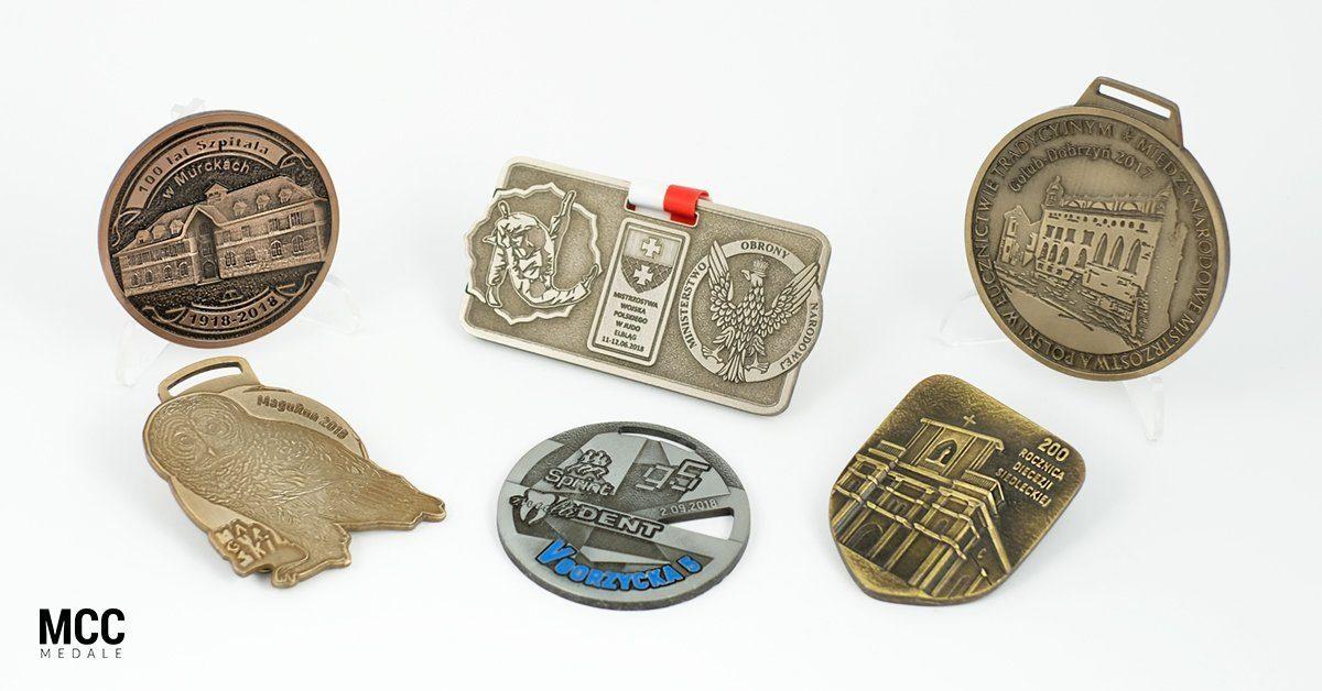 Medale wykonywane techniką odlewania wykonywane przez MCC Medale
