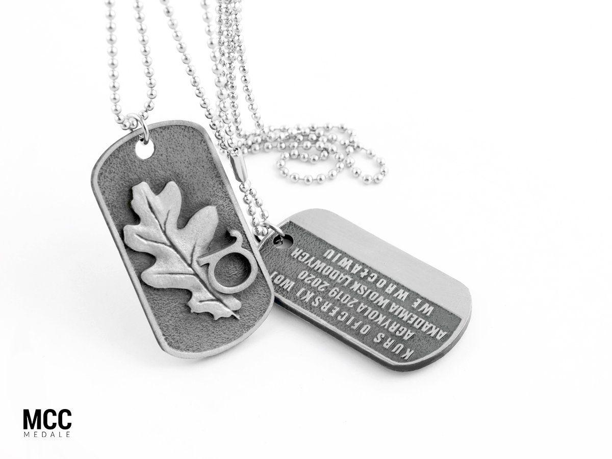 Nieśmiertelniki reklamowe MCC Medale wyprodukowane na zamówienie