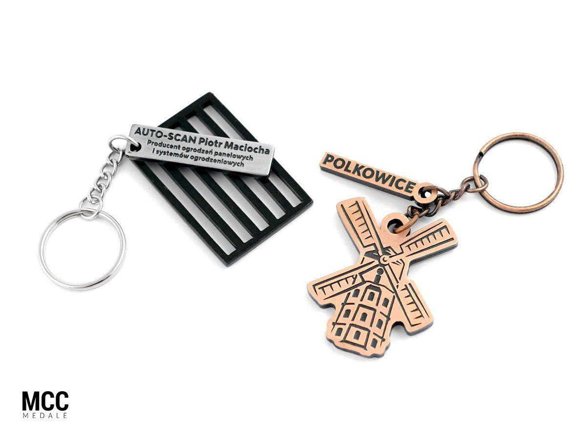 Nietypowe breloki reklamowe MCC Medale wyprodukowane na zamówienie