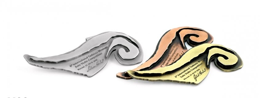Medale na 6th International Tadeusz Wroński Solo Violin Competition - produkcja MCC Medale